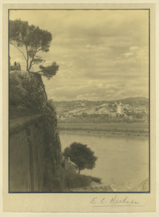 Unidentified River with Cliff