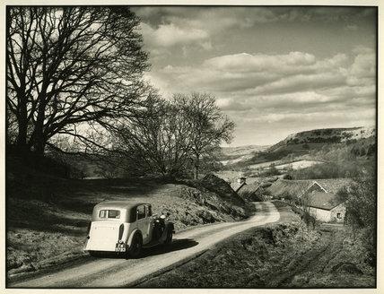 Edward Chambré Hardman's Car in Landscape