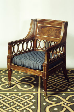 The elbow chair at Stourhead House by Thomas Chippendale the Younger