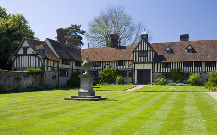 The fifteenth-century Cottages at Ightham Mote, Sevenoaks, Kent, a fourteenth-century moated manor house
