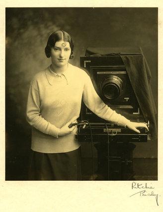 Margaret Hardman with studio camera