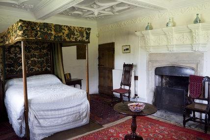 The Corner Bedroom at Westwood Manor, near Bradford-on-Avon, Wiltshire