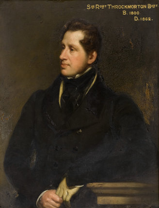 SIR ROBERT THROCKMORTON, 8th Baronet (1800-1862), by Thomas Phillips, in The Saloon at Coughton Court, Warwickshire