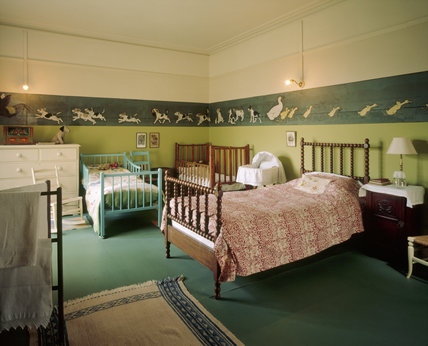 Two beds and a cot in the Night Nursery