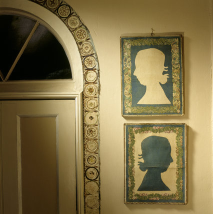 Positive and negative reliefs of Mary Walrond in the Drawing Room at A La Ronde