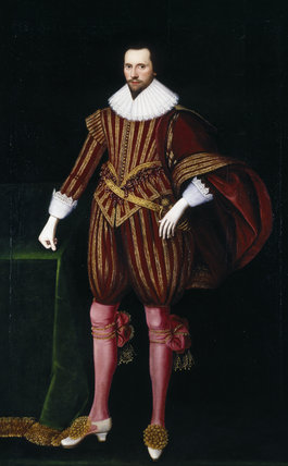 Painting, post conservation, of LORD SEYMOUR attributed to the English School, at Petworth House