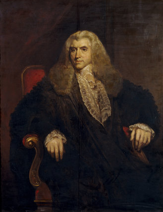 THE RT HON. SIR VICARY GIBBS (1751-1820) Attorney General and elder brother of Antony Gibbs by Ivan Lindle after the original by William Owen at Tyntesfield.