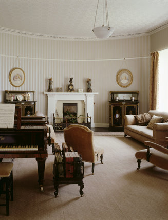 The Drawing Room at Llanerchaeron has been restored to Nash's original plan