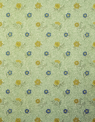 Standen, North Dressing Room Powered wallpaper designed by William Morris