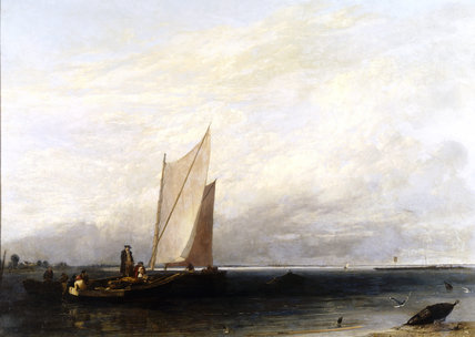PASSAGE AND LUGGAGE BOATS by Sir Augustus Wall Callcott, 1815, at Tyntesfield
