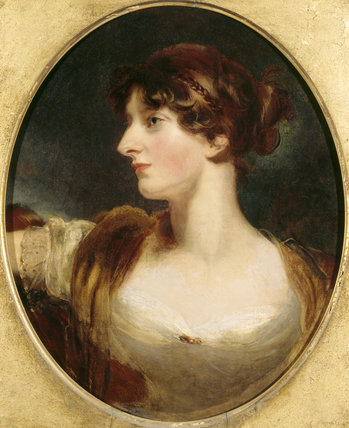 Portrait of MRS. WOLFF by Sir Thomas Lawrence (1769-1830) in the Library Ante-Room at Croft Castle.