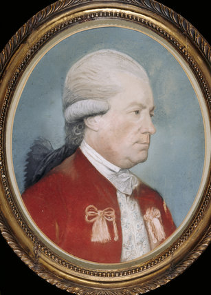 Oval portrait of SIR ARCHER CROFT, 3rd BARONET, in the Gallery at Croft Castle