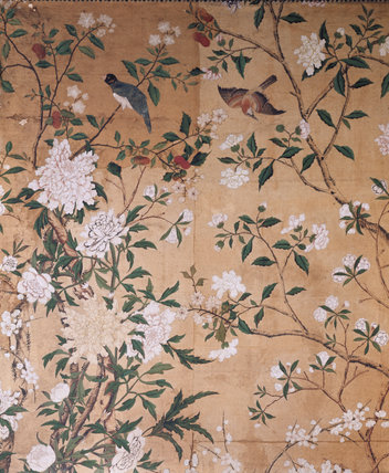 Chinese wallpaper in the Dressing Room at Nostell Priory
