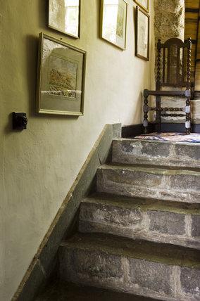 The lower flight of the Staircase at Plas yn Rhiw, Pwllheli, Gwynedd