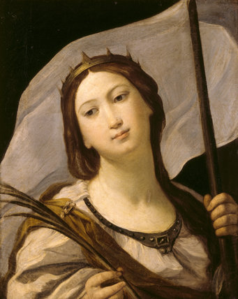 ST URSULA by Guido Reni (1575-1642), possibly completed by a studio hand after his death