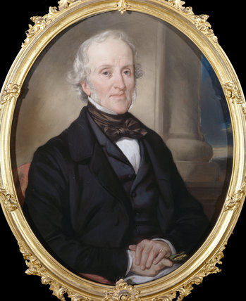 WILLIAM GIBBS (1790-1875) by Eugene-Francois-Marie-Joseph Deveria c.1850, at Tyntesfield.