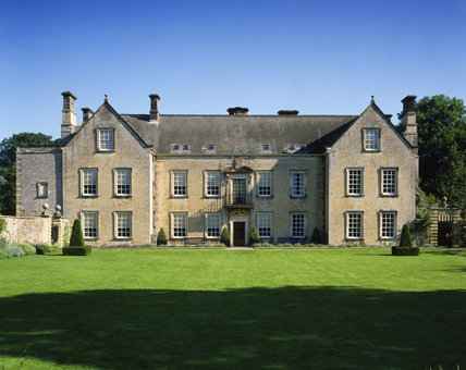 The South front of Nunnington Hall, a manor house modernised by Lord Preston in 1687, showing what may have been the first glazed sash windows in the country