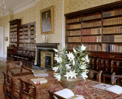 The Library at Peckover House showing the bookcases in which Lord Peckover assembled a large library