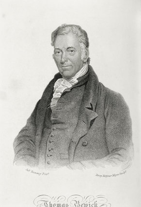Engraved portrait of THOMAS BEWICK, 1753-1828, the naturalist and engraver, after an oil portrait by James Ramsey, 1823