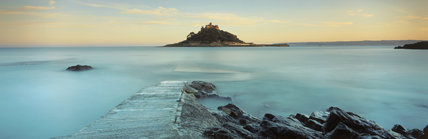 St. Michaels Mount was originally the site of a Benedictine Priory, approached by a causeway at low tide and by ferry at high tide. The castle dates from C12th.