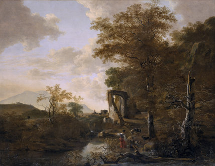 LANDSCAPE WITH AN ARCHED GATEWAY by Jacob Pynacker