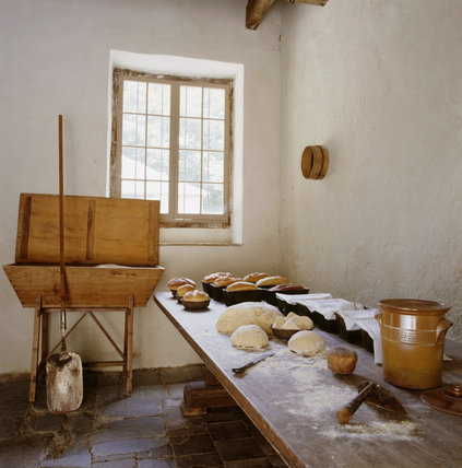 View of the interior of the Bakehouse at Llanerchaeron