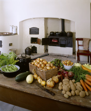 Inside the Scullery at Llanerchaeron