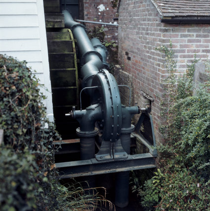 Close-up of the water turbine installed by Kipling, in 1903, to generate electricity