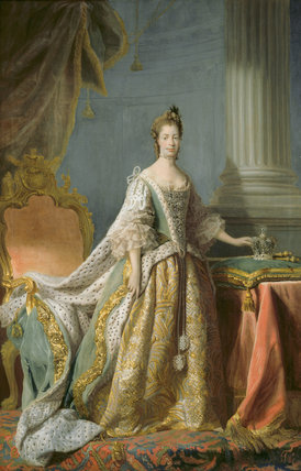 `PORTRAIT OF QUEEN CHARLOTTE' by Allan Ramsay, after conservation by the Hamilton Kerr Institute