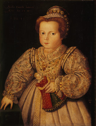 `LADY ARABELLA STUART AGED 23 MONTHS' by Anon 1577