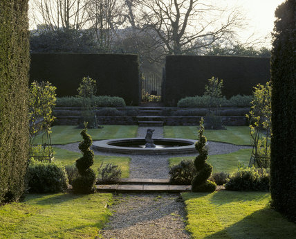 Part of the Dutch garden at Clandon House