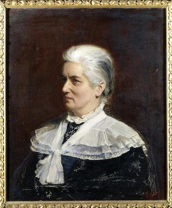 CHARLOTTE M. YONGE, the celebrated Victorian novelist, by John Henry Lorimer, 1882, at Tyntesfield.