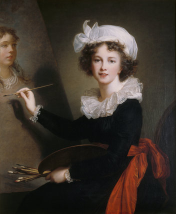 SELF PORTRAIT OF ELISABETH VIGEE LE BRUN signed 1791