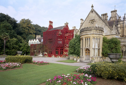 Victorian Gothic House west front of the victorian gothic house of tyntesfield with the
