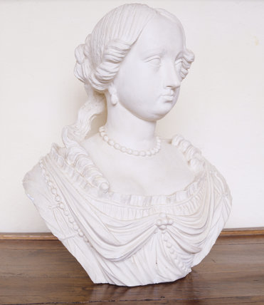 Bust of Lady Margaret Acland (d.1691) at Trerice.