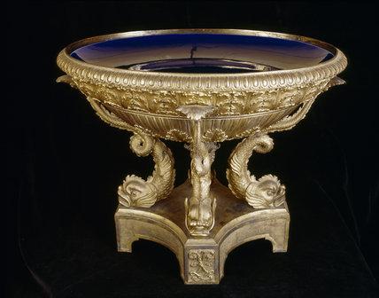 Close view of an English Ormolu Urn