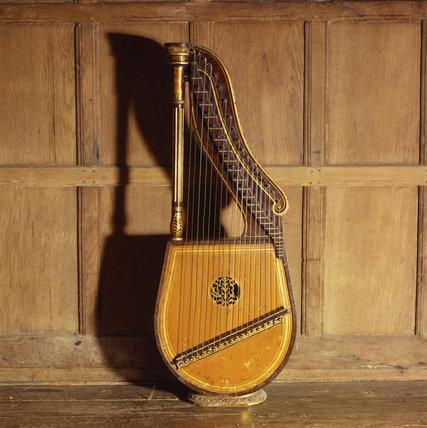 Snowshill - Music Room: 'Dital Harp' by Edward Light c 1821 English