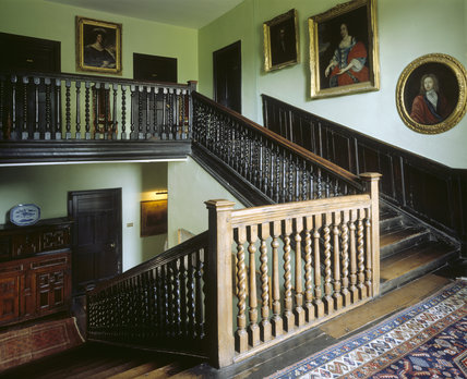 The broad staircase of 17th century