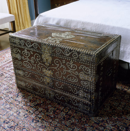 Detail of a Queen Mary chest in the Countess' bedroom at Florence Court