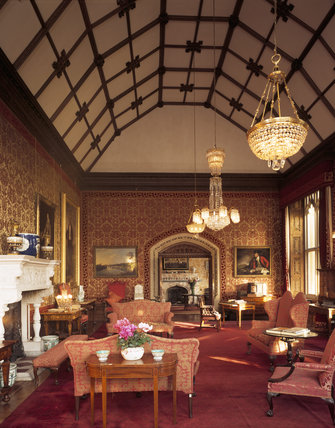 Room View Of Drawing Room At Tyntesfield With Its Barrel