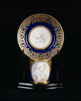 Close view of Sevres coffee can