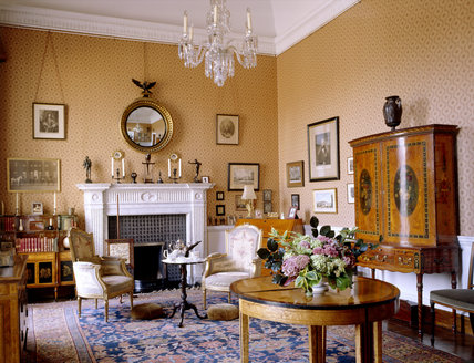Lady Cawley's Room at Berrington Hall was used by her as a sitting room until her death in 1978, and has since been rearranged to commemorate the Cawley family's life since 1901