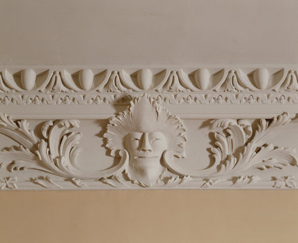 Close up of the plaster detail on the cornice at Florence Court in the Drawing Room