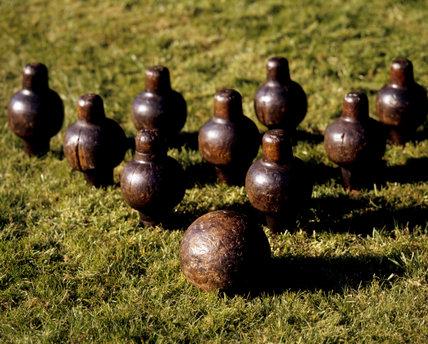 Set of Cornish seventeenth century skittles