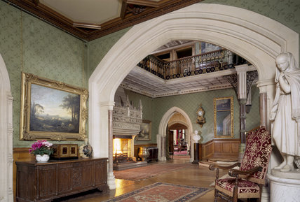 View from the Oak Room Lobby towards the Main Staircase Hall at Tyntesfield