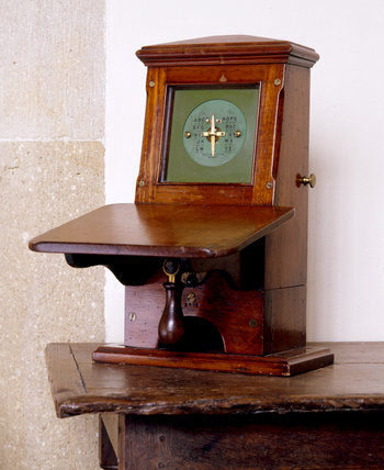 A telegram machine in the Old Post Office, Tintagel