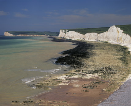 A view of the Birling Gap with part of the Seven Sisters in the foreground