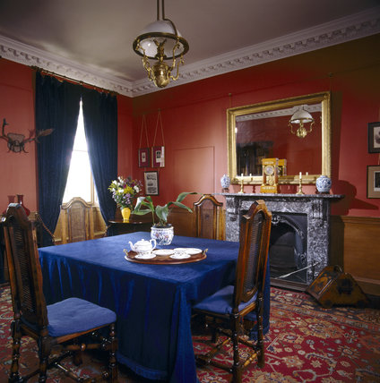 Room View Of The Victorian Study Looking Towards The