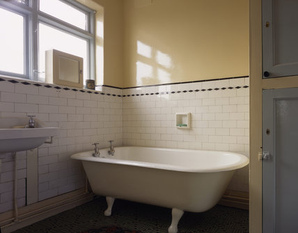 The bathroom at mendips mendips at national trust for Bathroom ideas 1930s semi