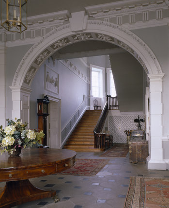 View of the entrance hall at florence court looking for Florence court house